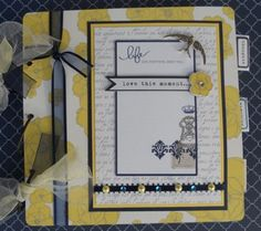 "Beautiful Teresa Collins 8x8 mini album using the lovely ""Everyday Moments"" line."