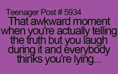 Especially when you're saying something not pleasant to another person...