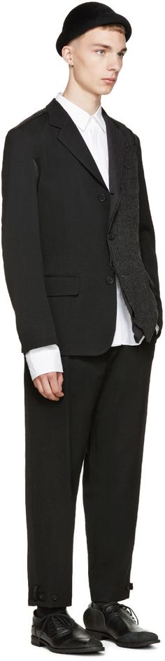 YOHJI YAMAMOTO Black & Grey K-3B Blazer