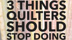 Quilters at every level will enjoy this quick video from Angela Walters, sharing 3 things quilters should STOP DOING - I guarantee you'll relate to this! Burp Cloth Patterns, Bag Patterns, Sewing Patterns, Dress Patterns, Fabric Book Covers, Pattern Weights, Dough Ornaments, Sewing A Button, Hand Sewing