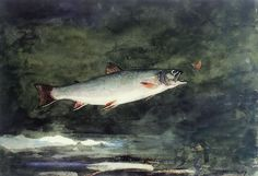 Winslow Homer Leaping Trout