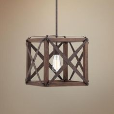 "Oaklyn 13"" Wide Rust Entry Pendant -"