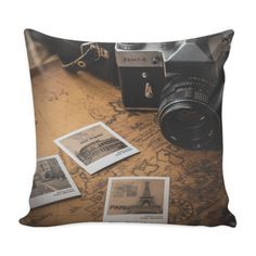 Decorative Pillow Cover Vintage Photography Pillow Cover Pillow Cover Details  16 x 16 100% spun polyester poplin fabric Individually cut and sewn by hand A single sided print with white back Finished with a concealed zipper Does not include pillow insert