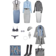 Dusty Blue and Grey - Fall by create1 on Polyvore featuring мода, Calypso…