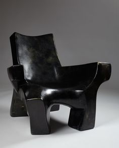 Phillippe Zunino; Lacquered Fiberglass Lounge Chair, 1980s.