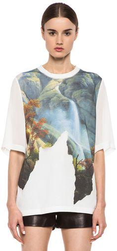 3.1 PHILLIP LIM Fragmented Eden Tshirt In White