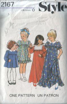 style 2167 vintage 70s children's dress pattern by vintagevice, $7.00