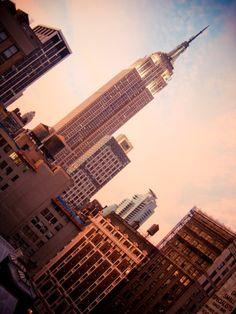 Urban Steeple Photo Digital NYC Empire Print by piratesofbrooklyn, $10.00