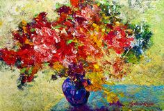 Abstract Floral 1 Painting  - Abstract Floral 1 Fine Art Print