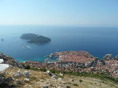 Lokrum island and the old city of Dubrovnik
