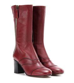 CHLOÉ Lexie mid-calf leather boots. #chloé #shoes #boots