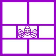 Easter Eggs - Laser Die Cut Scrapbook Overlay