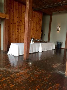 Catering Set Up 2 8ft. Tables together