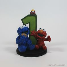 The Furchester Hotel Cake Topper, Elmo and Cookie Monster