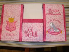 Princess Themed Boutique Burp Cloth Set by Just Being Frilly