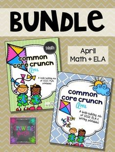 This Bundle includes these two products and saves you over buying each pack separately.For more details and previews, please visit each of the listings below...Common Core Crunch - This Month's ELACommon Core Crunch - This Month's MATHThey are aimed at first graders, yet have been used as intervention with second graders and enrichment with kindergartners.