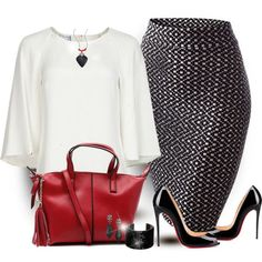 Black and White Polyvore Combination