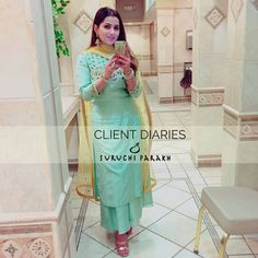 Swooning over this absolutely beautiful picture of our client. Thank you for sharing this gorgeous picture in our ensemble… Simple Dress Casual, Casual Suit, Simple Dresses, Casual Dresses, Casual Wear, Indian Suits, Indian Wear, Punjabi Suit Simple, Embroidery Suits Punjabi