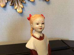 Soviet USSR Russian porcelain Schoolgirl girl by Lenindrad Lomonosov Porcelain Factory by novcat on Etsy