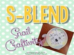 Cute and FREE craftivity for s-blends!