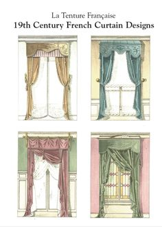French Country curtain Ideas   La Tenture Francaise. 19th Century French Curtain Designs.