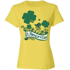 #StPatricksDay #Clovers & #Hat #YellowCottonTshirt by #MoonDreamsMusic #RelaxedFit