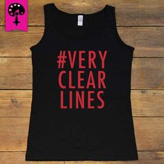 Very Clear Lines -- Women's T-Shirt/Tanktop