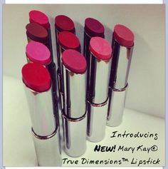 Mary Kay True Dimensions Lipstick Great Colour while Keeping your lips smooth & healthy looking. Call me today to get yours!