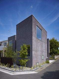 Ogikubo House: solving a puzzle - Japanese Architecture, Small Houses Japanese Architecture, Modern Architecture, Facade Design, House Design, Bunker Home, House Tokyo, Compact House, Concrete Houses, Tower House