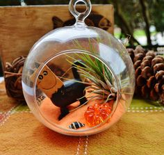 Black Scardy Cat  with Candy Corn Glass by BeachCottageBoutique, $22.50