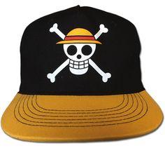 One Piece Cap - Straw Hat Crew Black & Gold @Archonia_US