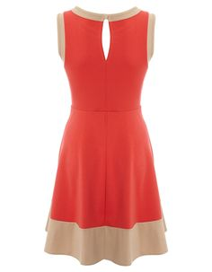 Colour Block Ponte Dress | Women | George at ASDA  huge favorite - color block, neck, keyhole