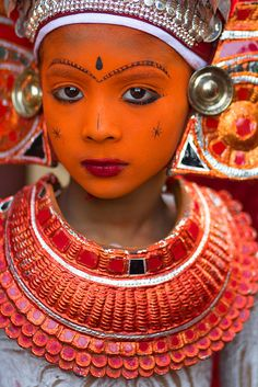 Theyyam festival ~ Kerela ~ beautiful faces in world culture