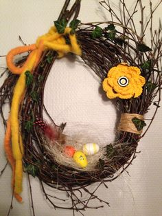 Easter and spring wreath