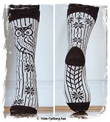 Ravelry: Garsnes Ugla / Garsnes Owl (Norsk og Engelsk) pattern by Hilde Aas Knitting Projects, Crochet Projects, Knitting Patterns, Fair Isle Knitting, Knitting Socks, Boot Toppers, Knitted Slippers, My Socks, Diy Projects To Try
