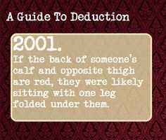 A Guide To Deduction, Suggested by   far-shore-resident