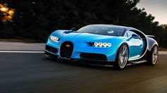 Bugatti Chiron can rip from 0-250-0 in under a minute.
