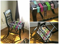 Spiked belt chair for famously by uvproductionhouse on Etsy