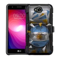 LG X Power 2 Armor Hybrid Case - Soccer Ball Argentina Flag