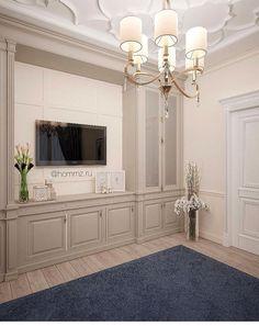Living Room Built In Cabinets, Built In Tv Cabinet, Living Room Built Ins, Bedroom Cupboards, Living Room Tv, Tv In Bedroom, Master Bedroom Makeover, Tv Wand, Luxury Bedroom Design