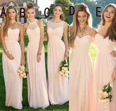 2016 Pink Navy Cheap Long Bridesmaid Dresses Mixed Neckline Flow Chiffon Summer Blush Bridesmaid Formal Prom Party Dresses With Ruffles Champagne Bridesmaid Dress Charcoal Bridesmaid Dresses From Allanhu, $108.91| Dhgate.Com