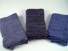Dishcloths Knit in Cotton in Purples Washcloths Wash Cloth Dish cloth Happy New Year!