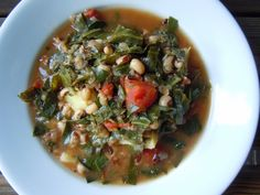 Spicy Collard and Black Eyed Pea Soup