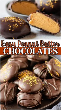Homemade Chocolate peanut butter candy made with peanut butter, chocolate, powdered sugar, butter & vanilla! Fancy peanut butter chocolates made easy at home & perfect for gift giving! #chocolate #peanutbutter #candy #nobake #easyrecipe from BUTTER WITH A SIDE OF BREAD Chocolate Biscotti Recipe, Homemade Chocolate, Chocolate Peanut Butter, Chocolate Pie Recipes, Delicious Chocolate, Chocolate Desserts, Delicious Desserts, How To Make Chocolate, Peanut Butter Candy