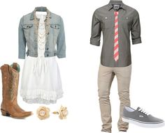 Engagement pictures outfits Polyvore