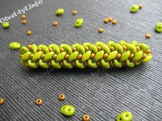 Master class superduo herringbone chain. (choose language at top right) #Seed #Bead #Tutorials