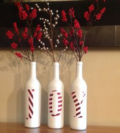 Joy decorative Christmas bottles Beautiful by SEVENTHandJ on Etsy