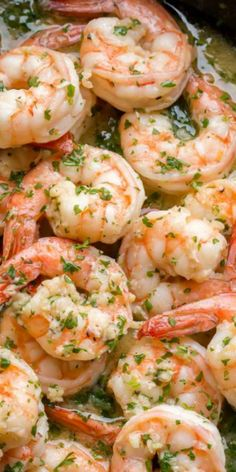 Shrimp Scampi is made of shrimp or prawns that are cooked in butter and wine sauce with lots of garlic and fresh parsley. An easy and light dinner recipe made in under 30 minutes! dinner recipes Easy Shrimp Scampi Recipe - Let the Baking Begin! Shrimp Recipes For Dinner, Prawn Recipes, Shrimp Recipes Easy, Fish Recipes, Seafood Recipes, Cooking Recipes, Recipes With Cooked Shrimp, Chicken Recipes, Shrimp Scampi Sauce