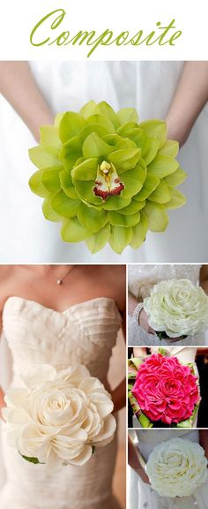 Composite Bouquets//LOVE @Tiffany Robinson Katie would love this if it's in the budget!!