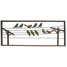 Metal Wall Art Birds On A Wire - birds on a wire metal wall art by qualitytoolingllc on etsy with . birds on a wire metal wall art. 🔎zoom Wall Decal Metal Bird Wall Art, Metal Birds, Metal Wall Decor, Art Craft Store, Craft Stores, Dining Room Inspiration, Wood Projects, Crafty Projects, Decor Styles